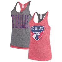 FC Dallas Concepts Sport Women's Squad Reversible Tank Top - Red/Charcoal