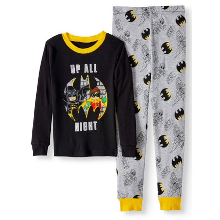 Glow in the Dark Fitted Batman 2 Piece Pajama Sleep Set (Big Boy & Little Boy)