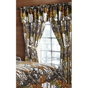 The Woods White Camouflage 5pc Curtain Set by Regal Comfort For Hunters Cabin or Rustic Lodge Teens Boys and Girls (Curtain , White)