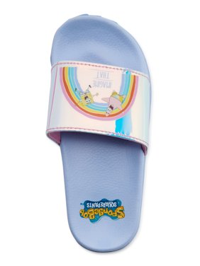Nickelodeon Spongebob Squarepants Character Slide Sandals - a Walmart.com Exclusive! (Little Girls & Big Girls)