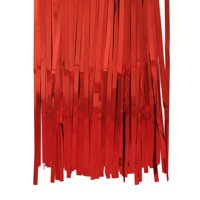 Aspire Long Foil Fringe Photo Backdrops Doorway Window Tinsel Party Curtain 3 ft x 8 ft-Red-Pack of 6