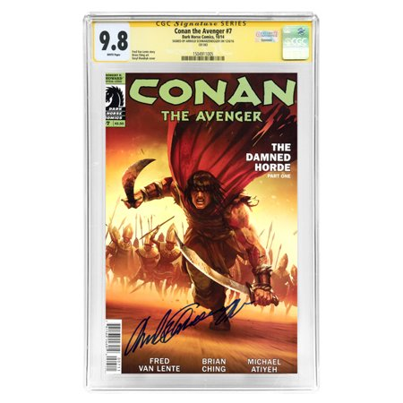 Arnold Schwarzenegger Autographed Conan the Avenger #7 CGC SS Signature Series 9.8 Comic