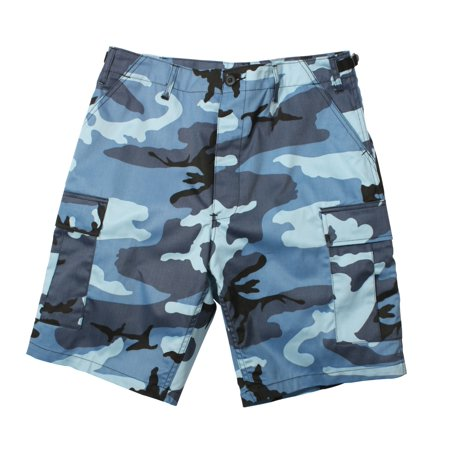 Sky Blue Camouflage Military Style BDU Shorts