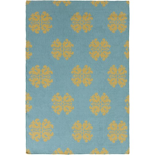 Surya Frontier Teal Floral and Plants Area Rug