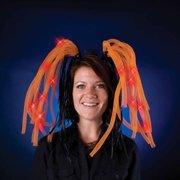 Light Show Orange LED Dreads Costume Headband