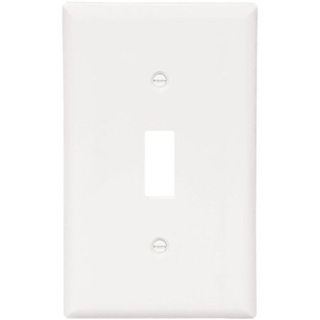 Gang Cooper Wall Plate (Cooper 5134W White Unbreakable Single Gang Toggle Light Switch Wall Plate (Pack of 10) )