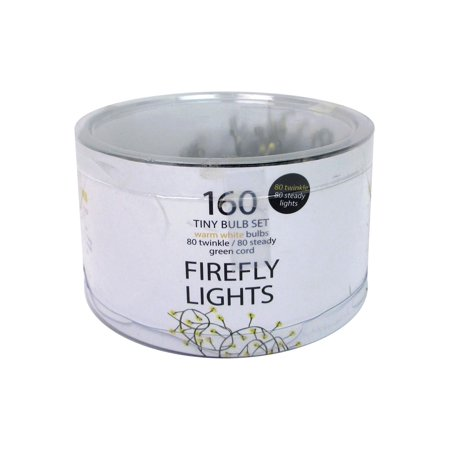 - Light Firefly LED 160ct Warm White/Green Cord