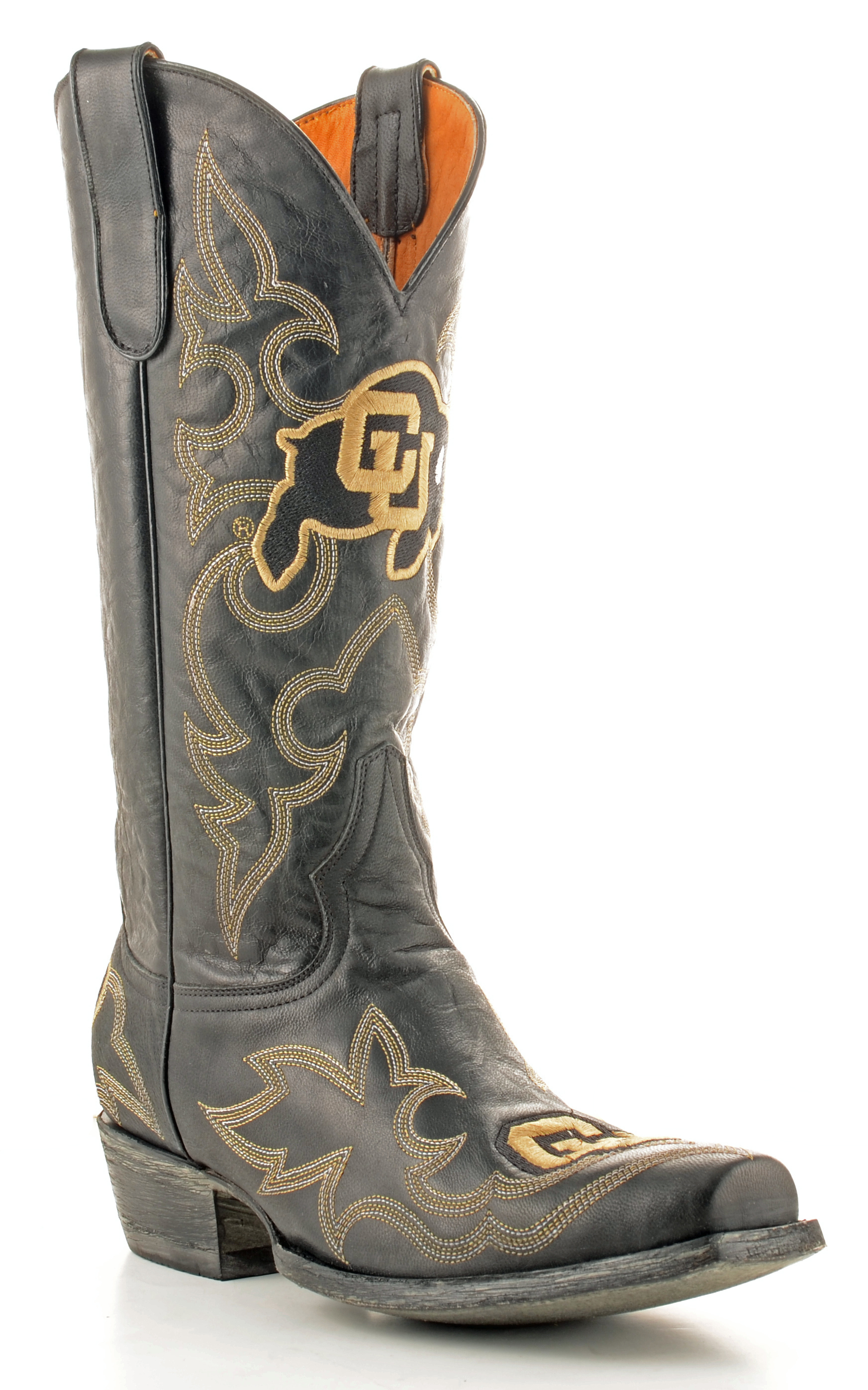 Gameday Boots Mens Leather University Of Colorado Cowboy Boots by GameDay Boots