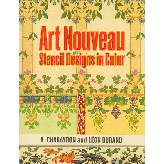 Art Nouveau Stencil Designs in Color - Walmart.com