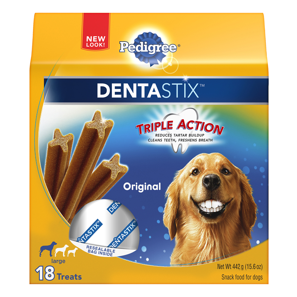PEDIGREE DENTASTIX Original Large Treats for Dogs - 15.6 Ounces 18 Treats
