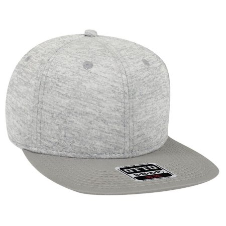 Otto Cap Rayon Blend Jersey Knit Cotton Twill Square Flat Visor 6 Panel Pro Snapback - Hat / Cap for Summer, Sports, Picnic, Casual wear and Reunion etc