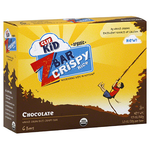 CLIF Kid Zbar Organic Crispy Rice Chocolate Whole Grain Rice Crispy Bars, 5.9 oz, (Pack of 6)
