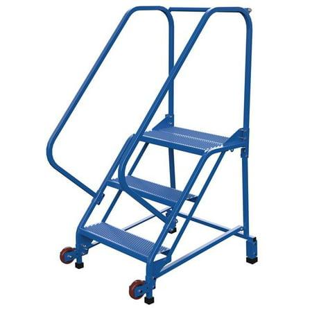 Vestil Manufacturing LAD-TRN-50-4-G 50 deg Tip-N-Go Mobile Ladder, Grip Strut - 4 Steps