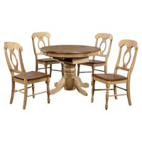 Sunset Trading 5-Piece Brook Pedestal Dining Set with Napoleon Chairs