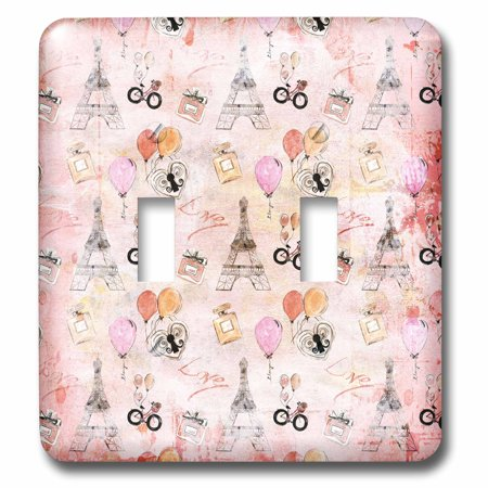 3dRose Paris Eiffel Tower and Balloons for Girlies On A Soft Pink Back