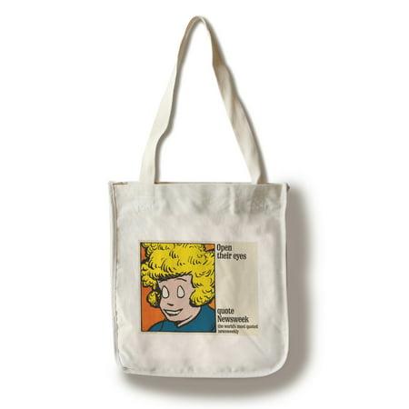 Newsweek - Open their eyes (Annie) Vintage Poster USA c. 1964 (100% Cotton Tote Bag - Reusable)