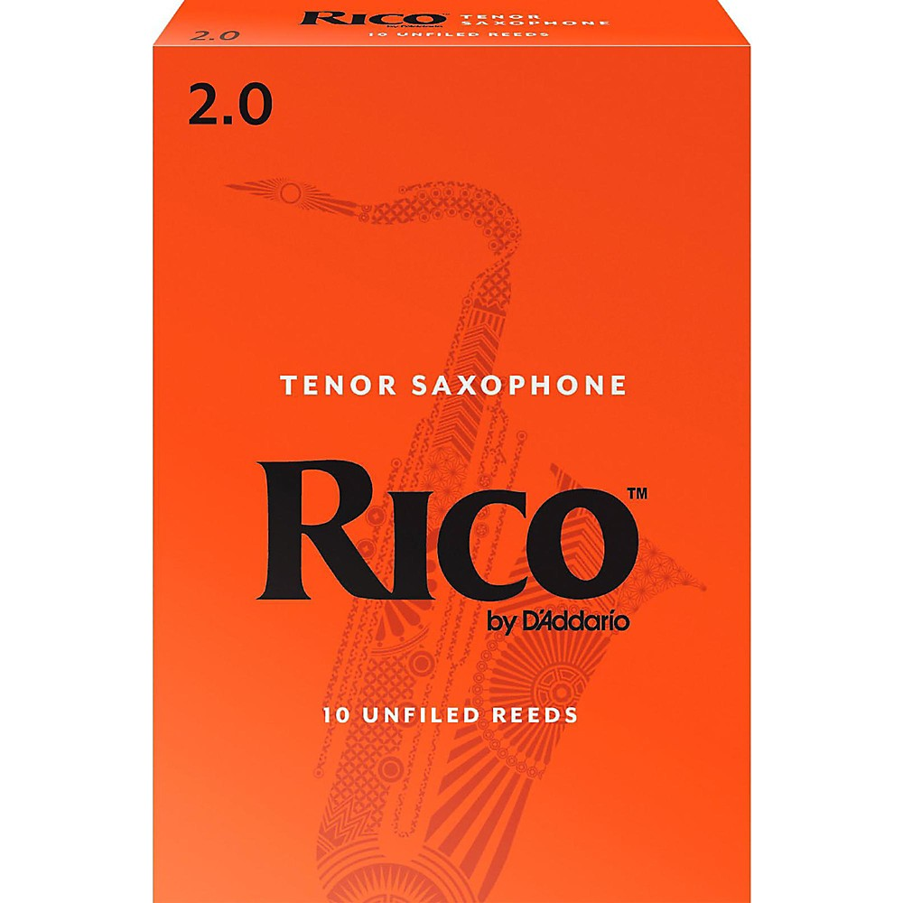 Rico Tenor Saxophone Reeds, Box of 10 Strength 2