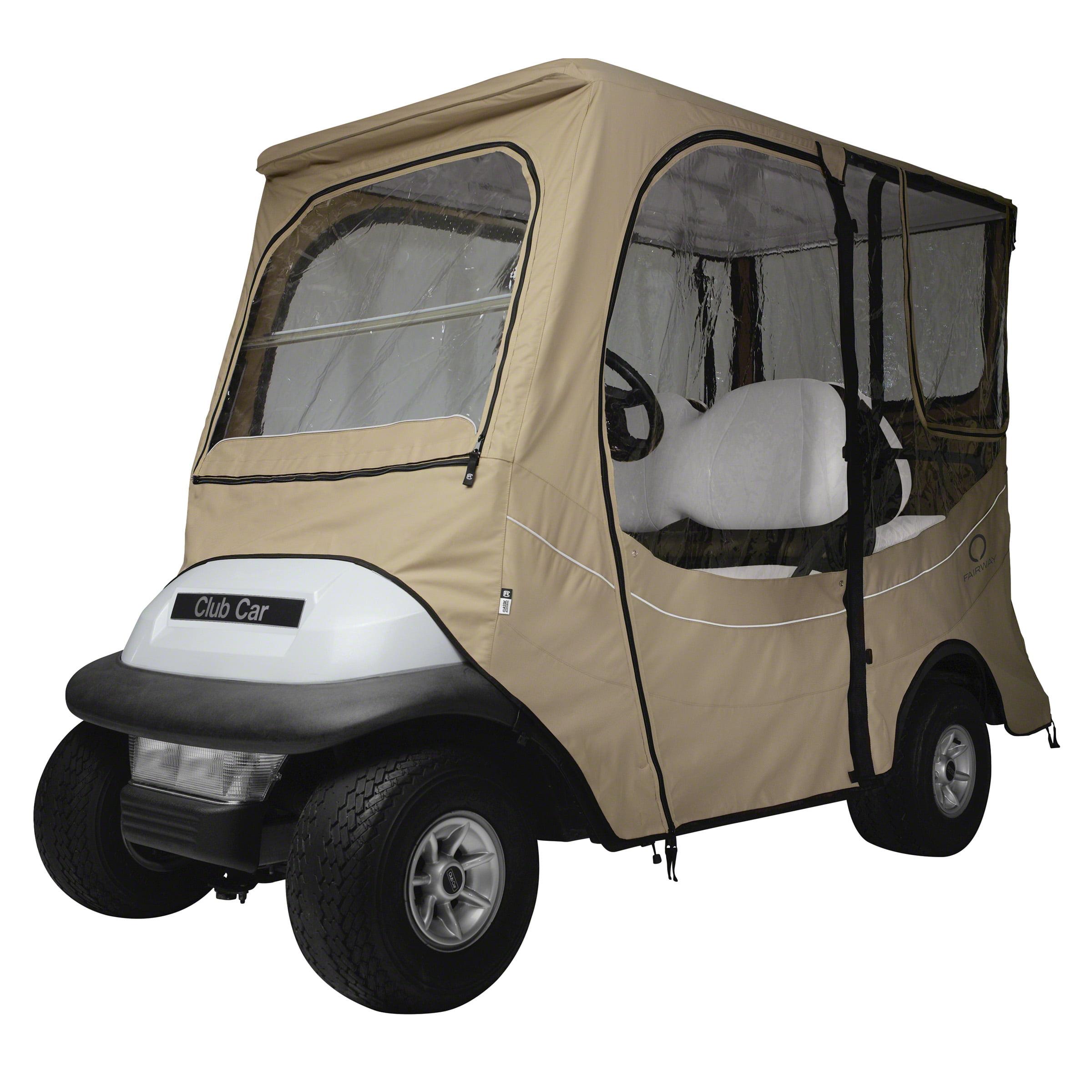 Club Car Accessories >> Classic Accessories Fairway Long Roof Club Car Precedent Fadesafe Golf Cart Enclosure Khaki