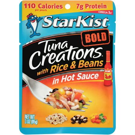 (3 Pack) StarKist Tuna Creations Bold, Rice and Beans in Hot Sauce, 3 oz (Hot Tuna)