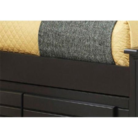 Works  4.62 x 0.75 x 76 in. 4 by 6 Wood Rails with Slats, Black