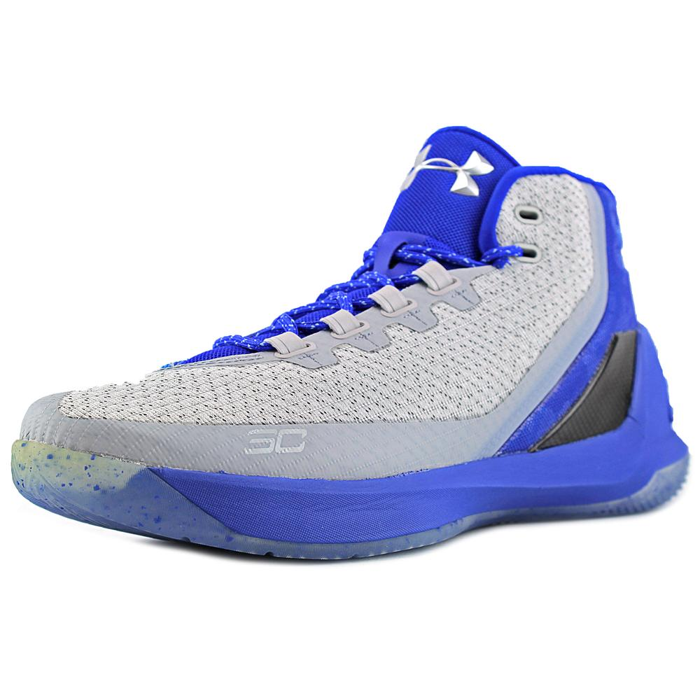 Under Armour Curry 3 Men  Round Toe Synthetic Blue Sneakers