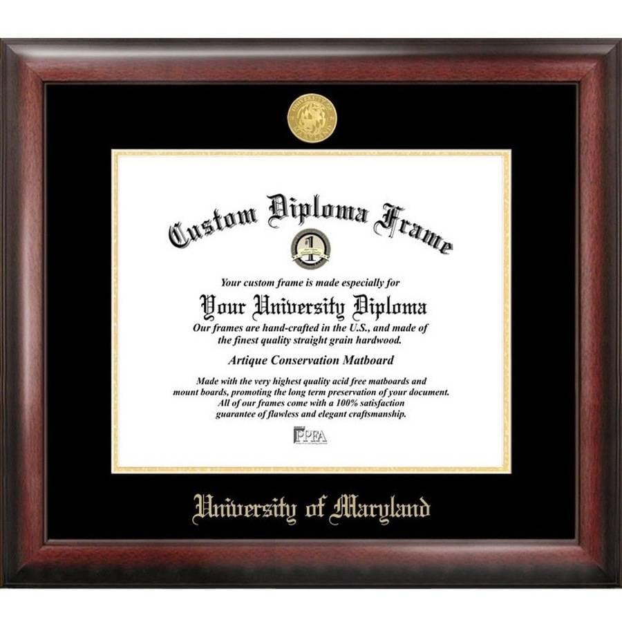 "University of Maryland 13"" x 17"" Gold Embossed Diploma Frame"