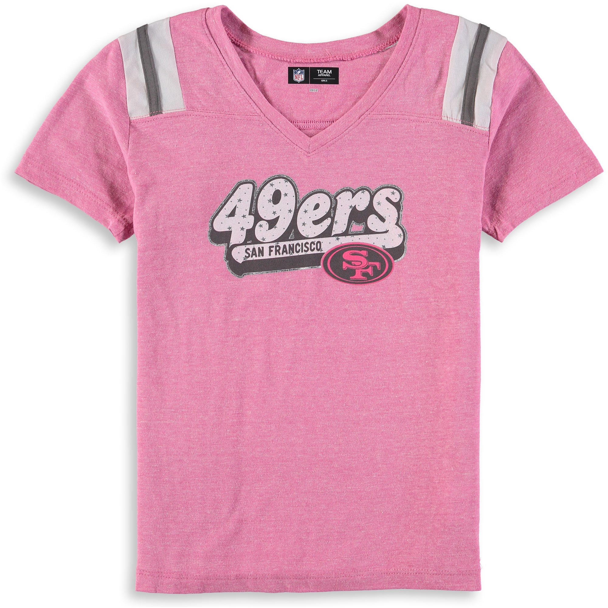 San Francisco 49ers New Era Girls Youth Star of the Game Tri-Blend T-Shirt - Pink