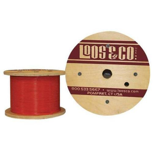 LOOS GC12579M2NO Cable,50 ft,Orange Nylon,1/8 in,400 lb G2411066