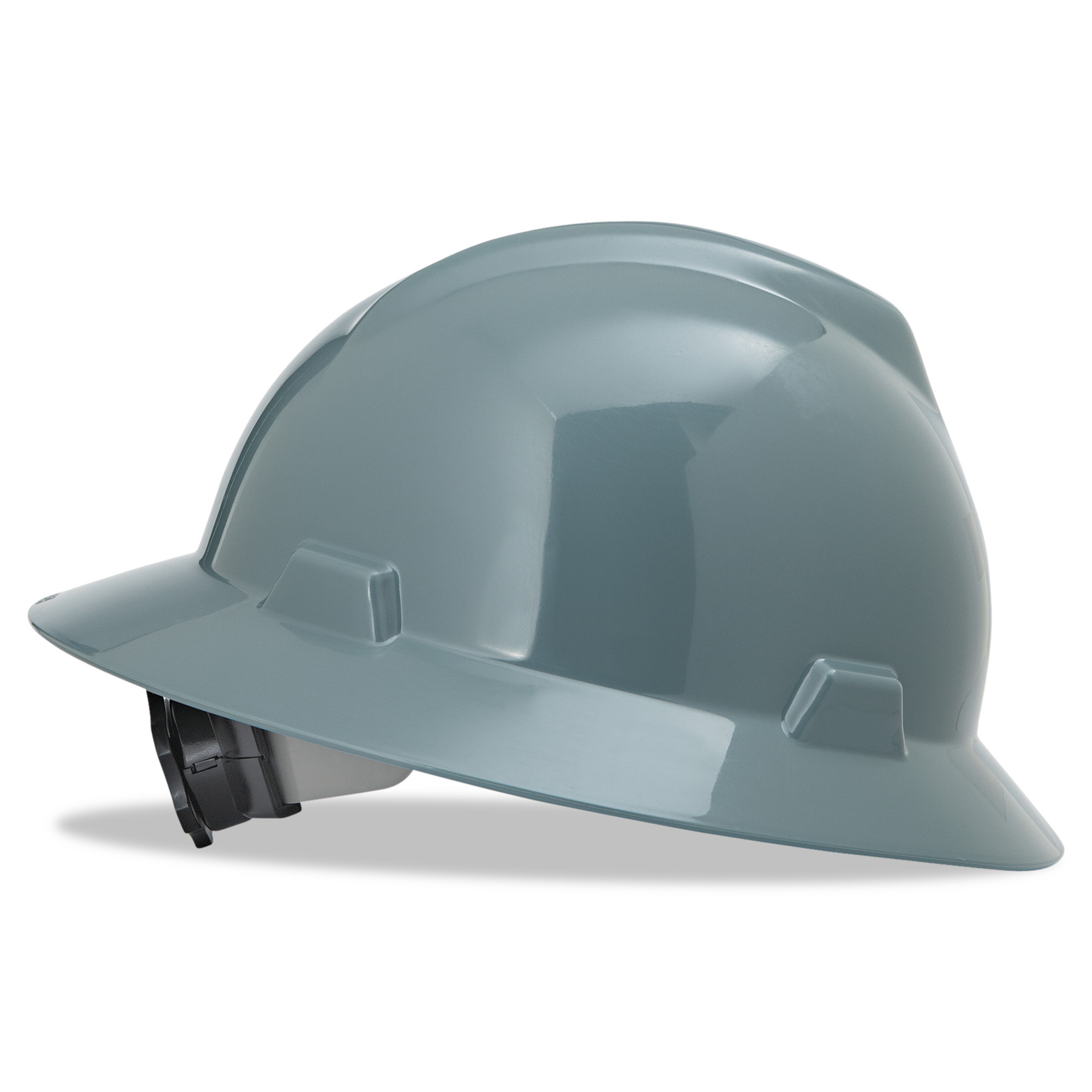 MSA V-Gard Full-Brim Hard Hats, Ratchet Suspension, Size 6 1 2 8, Gray by SAFETY WORKS