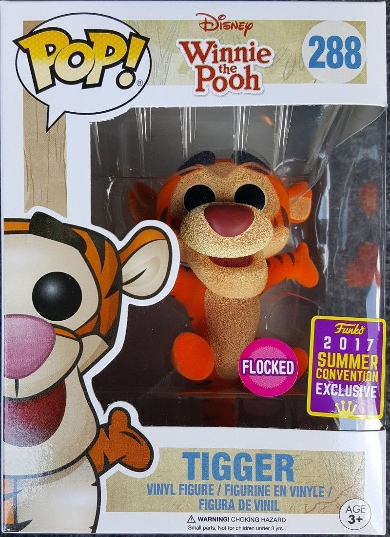 Funko POP Disney Winnie The Pooh Tigger Flocked SDCC Summer Convention Exclusive by