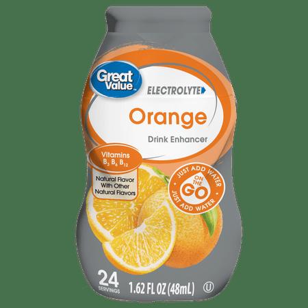 (2 Pack) Great Value Electrolyte Drink Enhancer, Orange, 1.62 fl (2 X Gloss Enhancer)