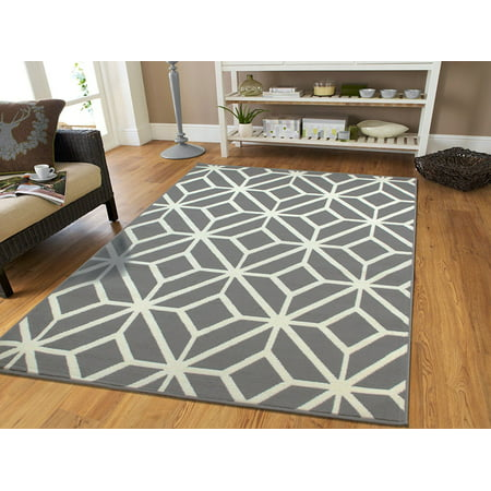 Large Gray Moroccan Trellis 8x11 Area Rugs For Living Room Grey Dining Rug Under