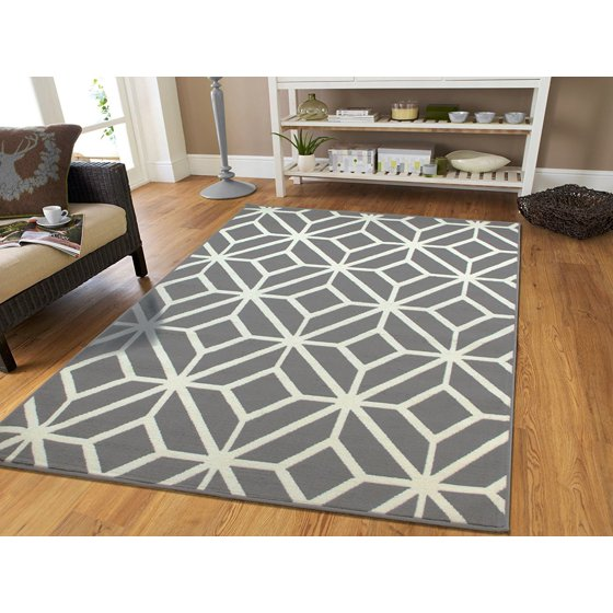 Living Room Area Rugs Blue Walls: Large Gray Area Rug