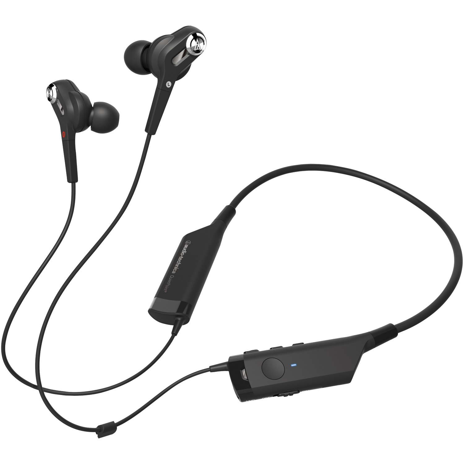 Audio-Technica ATH-ANC40BT QuietPoint ATH-ANC40BT Noise-Canceling In-Ear Bluetooth Headphones