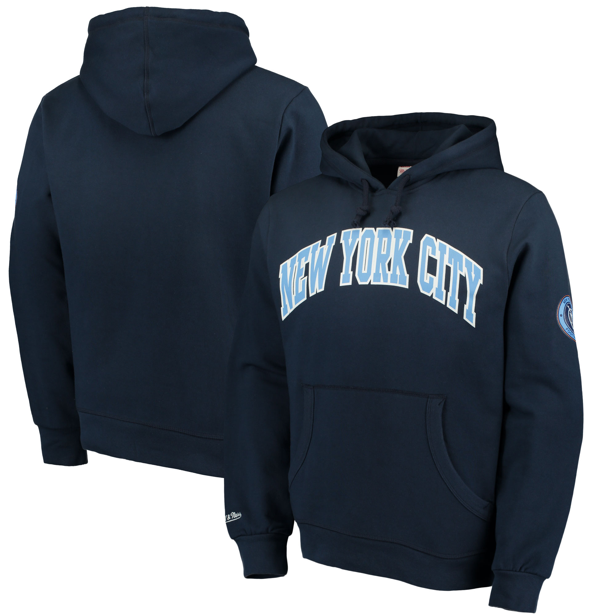 New York City FC Mitchell & Ness Start of Season Pullover Hoodie - Navy