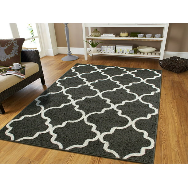 Area Rugs For Living Room 8x10 Gray Dining Room Rugs For Under The Table 8x11 Morrocan Trellis Rug Walmart Com Walmart Com