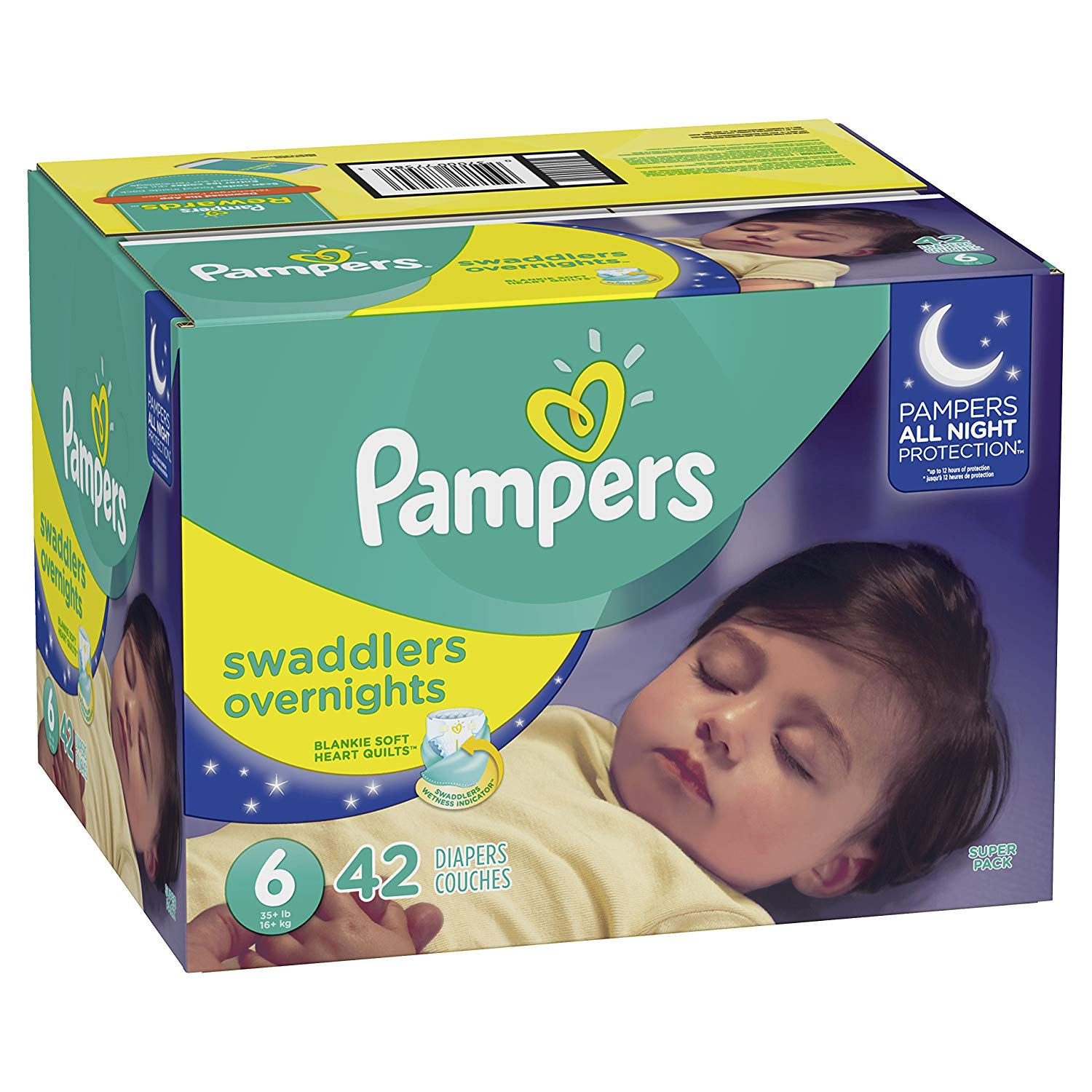 Pampers Swaddlers Overnights Diapers Size 6 - 42 ct. (35+ lb.)