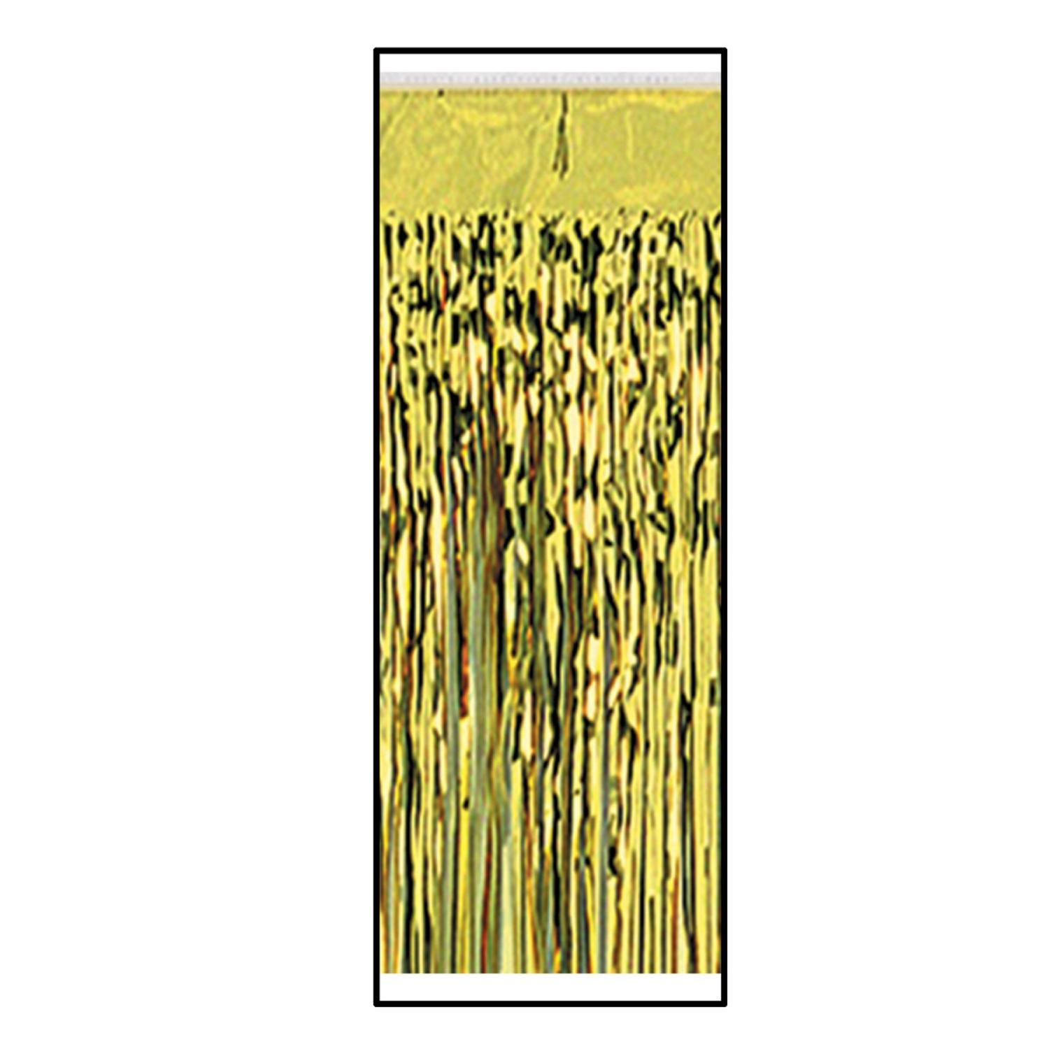 Pack of 6 Gold 2-Ply Metallic Table Skirting Decoration 14'