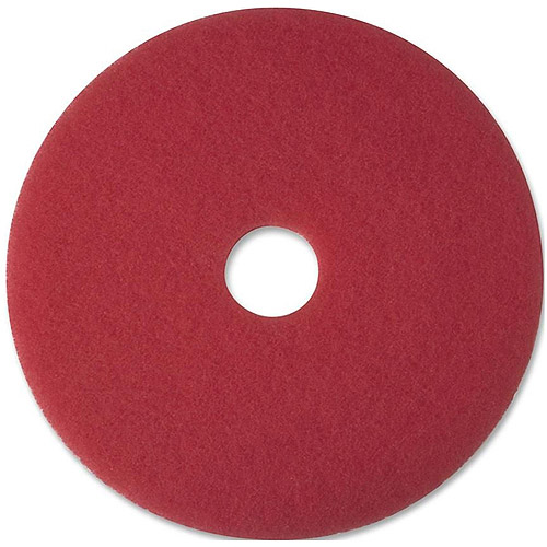 "3M 5100 Red 17"" Buffer Pads, 5 count"