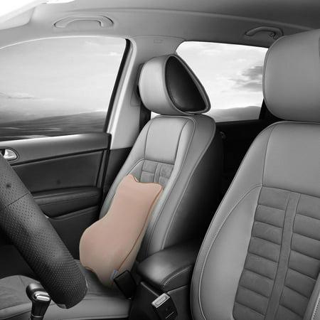 Beige Car Memory Foam Neck Support Massage Cushion Backrest for Travel Rest