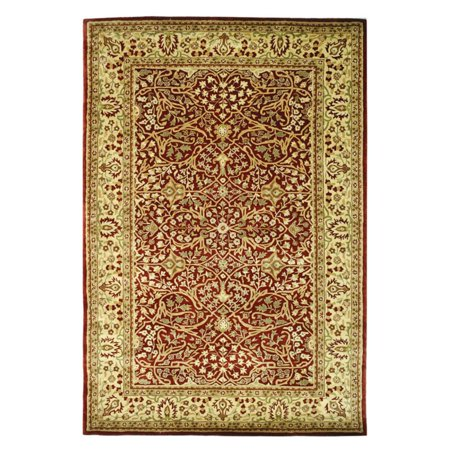 Safavieh Persian Legend Quendro Hand Tufted New Zealand Wool Runner Rug, Rust and Beige