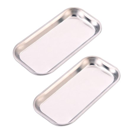 1pc Dental 201 Stainless Steel Medical Instrument Tray Useful Tool for Clinic Lab, Stainless Steel Tray,Medical Tray