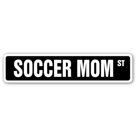 Soccer Mom Street Sign Coach Assistant Game Umpire Referee Gift Team