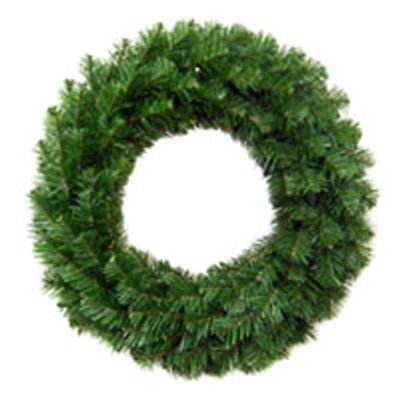- General Foam Plastics TS-W24600 Artificial Wreath, Unlit, Green, 24-In. - Quantity 6