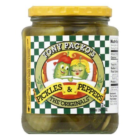 Tony Packo Original Pickles   Peppers  24 Oz  Pack Of 6