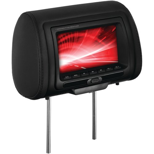 "Boss Audio HIR70BGTA 7"" Headrest Monitor with IR Transmitter and 3 Interchangeable Covers (with DVD Player)"
