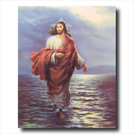 Jesus Christ Walking On Water Wall Picture Art Print (Picture Jesus)