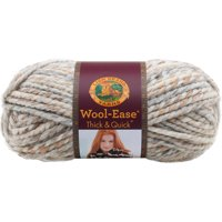 Lion Brand Yarn Wool-Ease Thick & Quick Fossil Classic Super Bulky Acrylic, Wool Multi-color Yarn