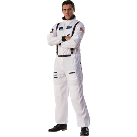 Space Suit Costumes (Men's Space Commander Astronaut Moon Walk Suit Costume Large)