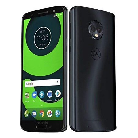 Motorola Moto G6 Plus (64GB, 4GB RAM) XT1926-6 - 5.9 FHD Display, Single Sim, 4G LTE Factory Unlocked Smartphone International Model (Deep